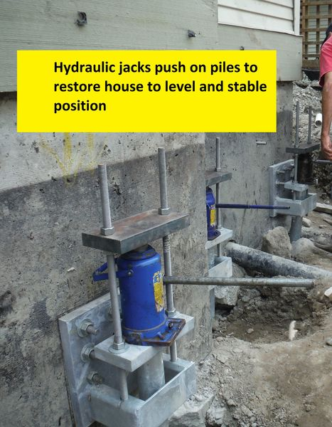 Zebiak House Raising - helical piles and structural underpinning - 3