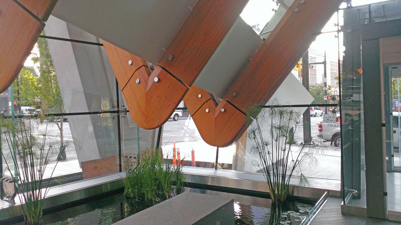Telus Gardens Glass Canopy Steel Spine Base - Industrial - Zebiak House Raising - 11